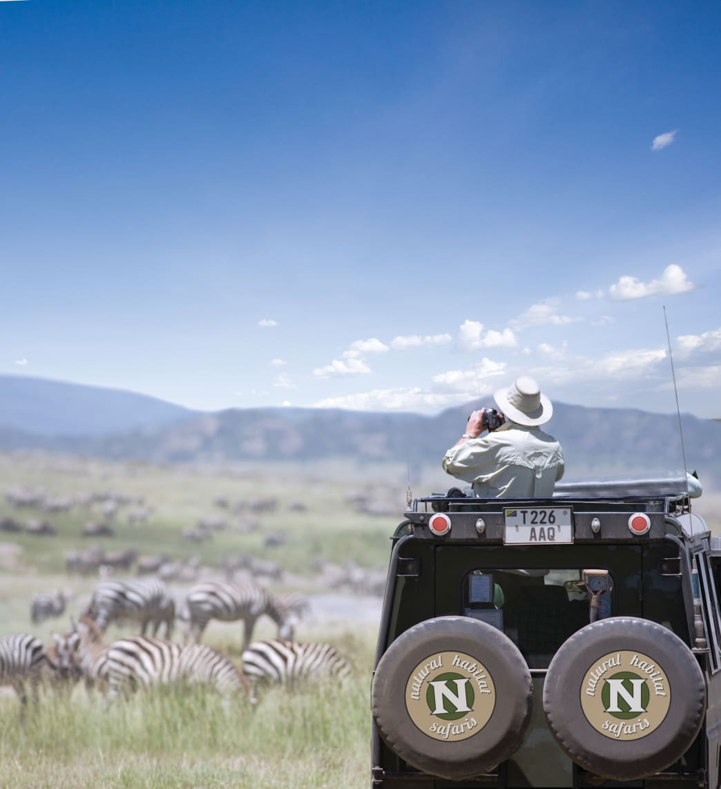 Tour options range from an African safari to the Galapagos Islands.