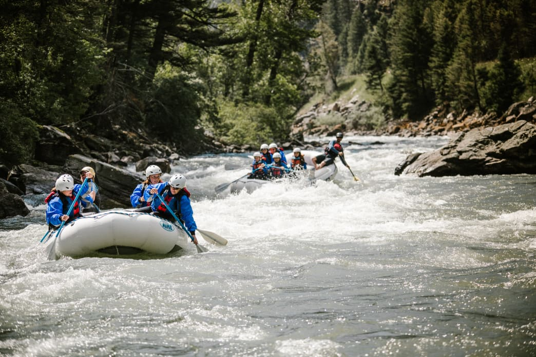 Enjoy rafting on continuous whitewater and stunning scenery.