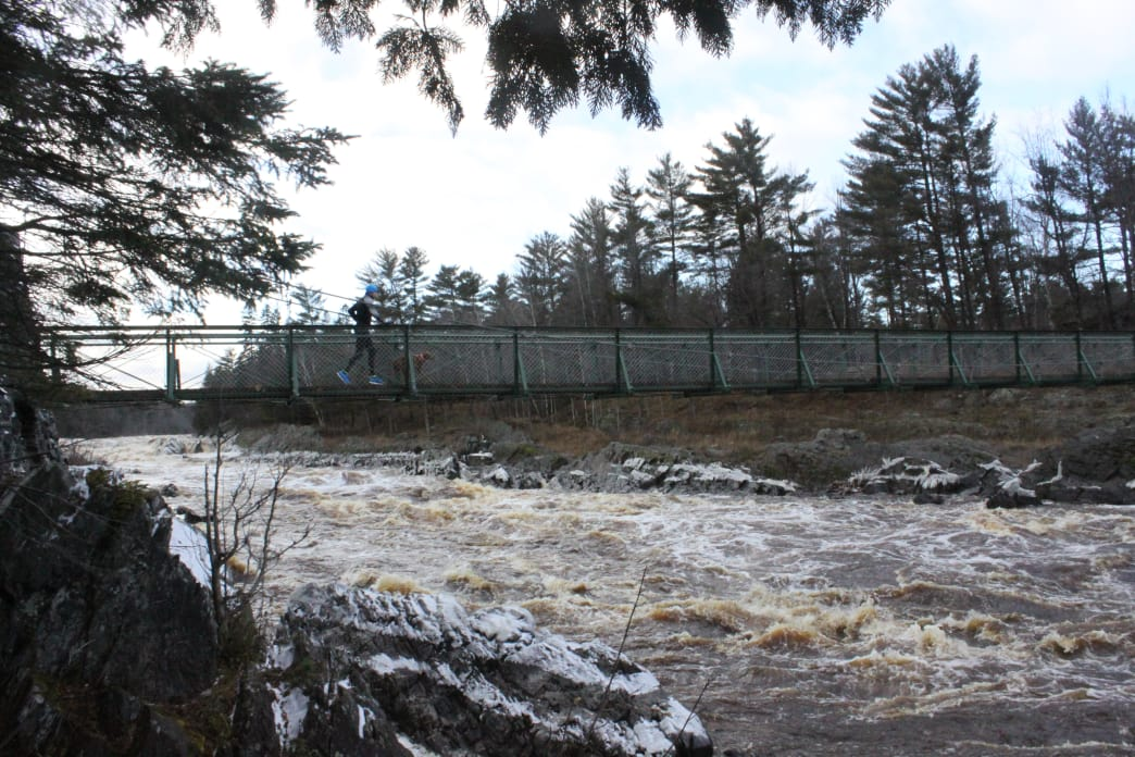 The Swinging Bridge at Jay Cooke State Park.