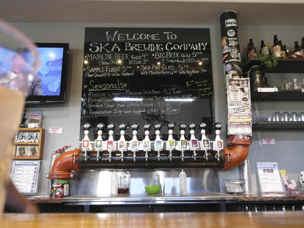 Ska Brewing Company is located close to the trailhead to climb Smelter Mountain.