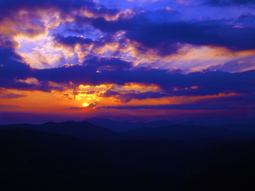 Sunset at the Linville Gorge.