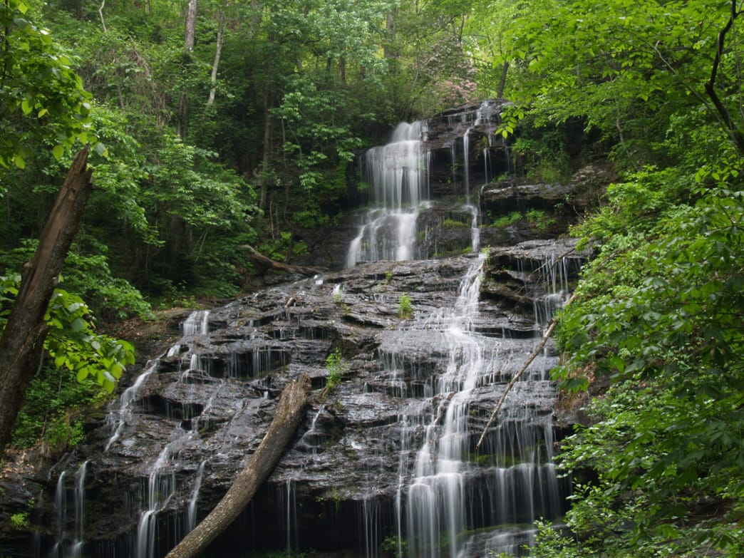 The land of waterfalls surrounds Oconee State Park.