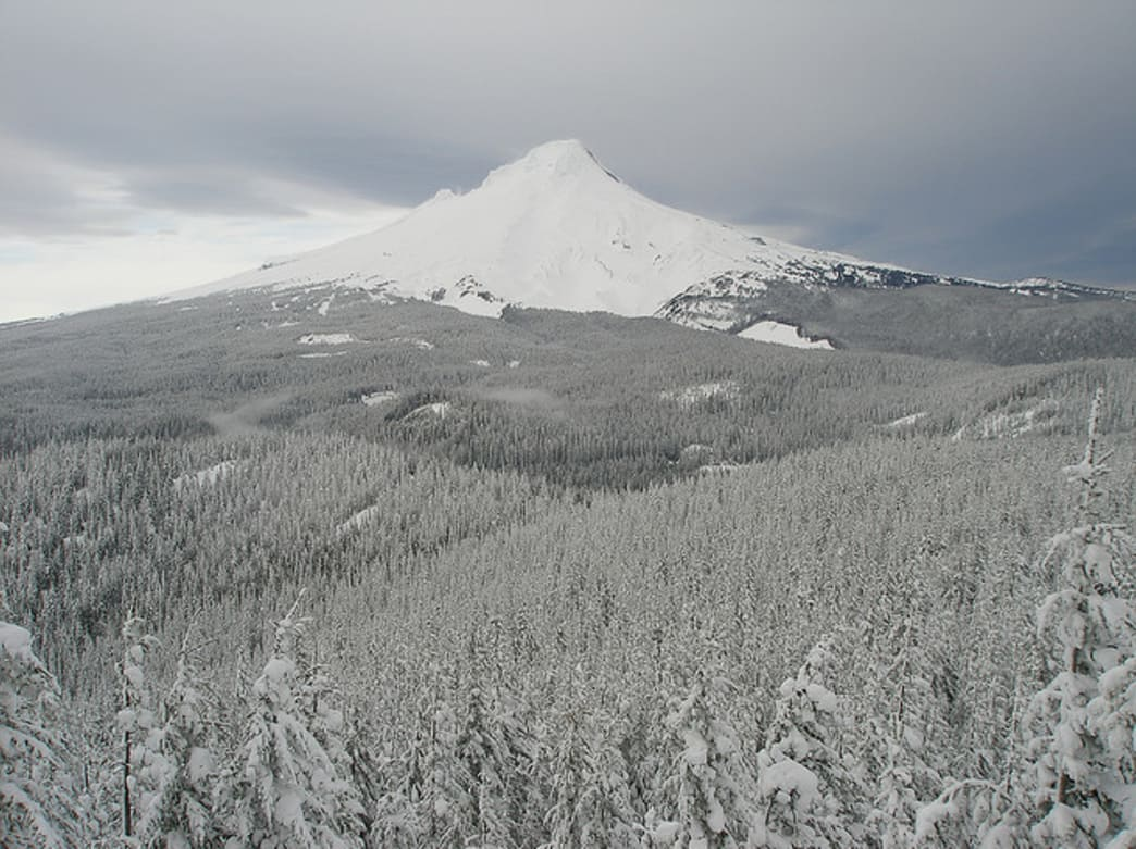 Barlow Pass, part of the Oregon Trail, is today a popular back-country skiing and snowshoeing destination.