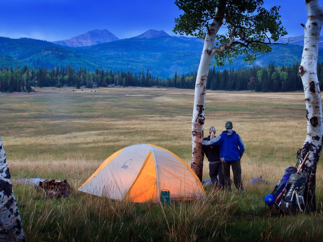The spacious meadows of Big John Flat make for a scenic camping destination.
