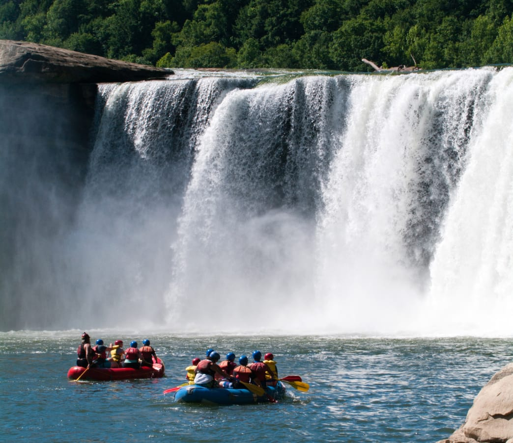 Get up close and personal with Cumberland Falls.