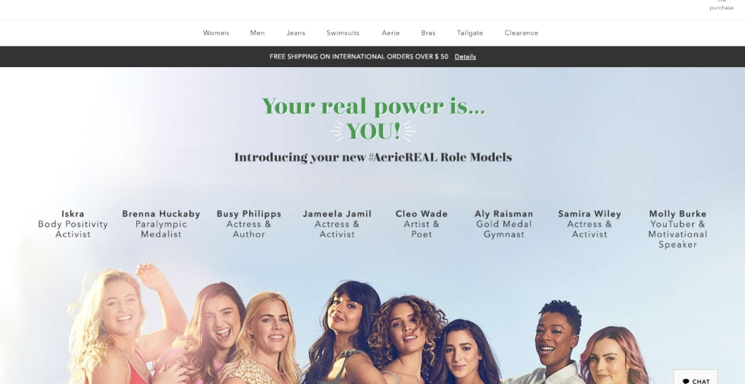 Female power body Positivity Unreturned AerieREAL Aerie by American Eagle
