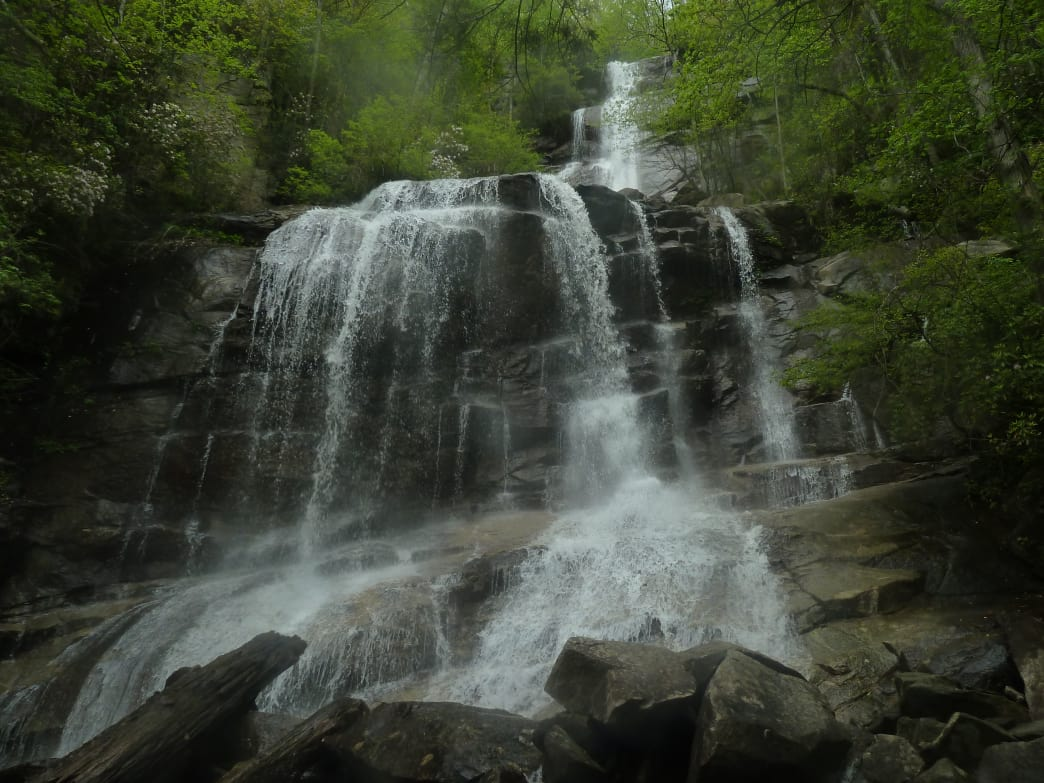 Tumbling more than 100 feet, the powerful impact of water at Falls Creek Falls create a welcome cooling mist