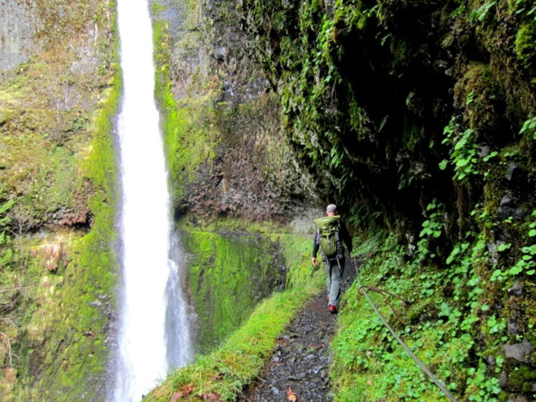 Tunnel Falls is one of the sweeter stops along the Eagle Creek Trail