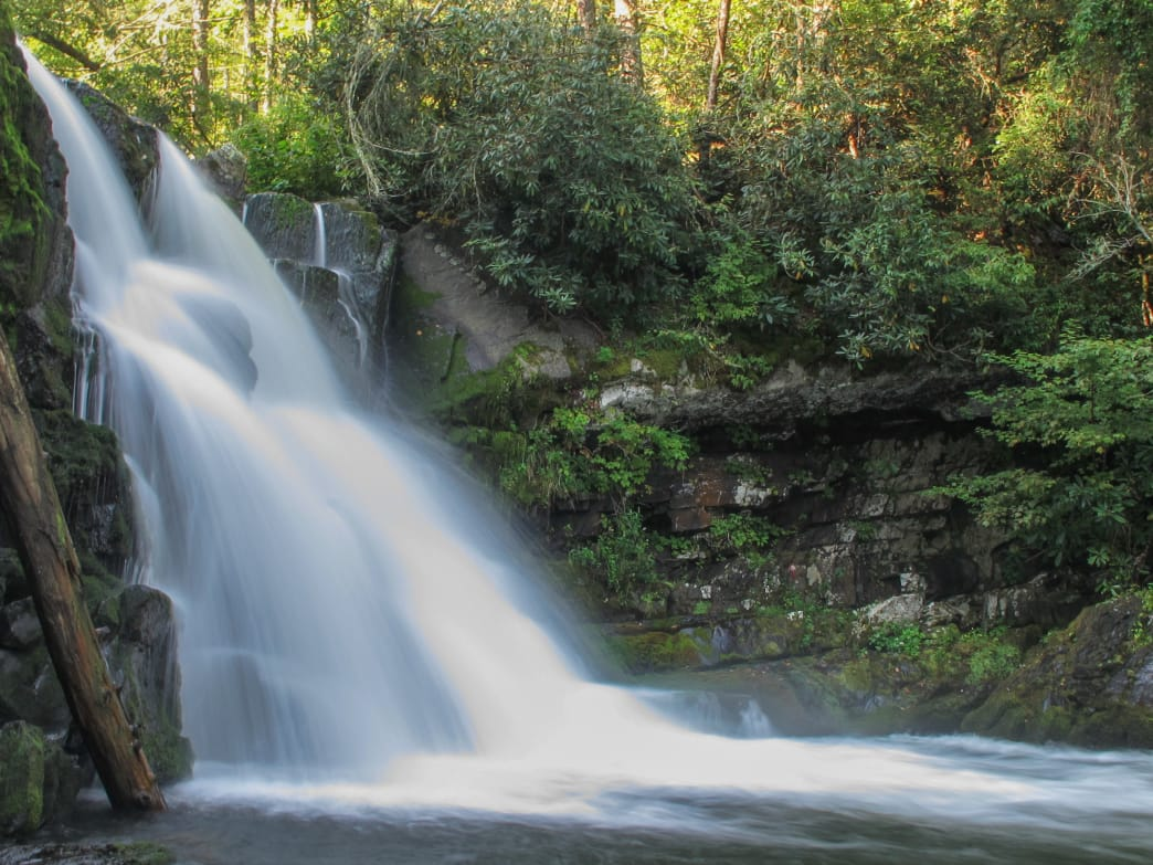 Cool off at Abrams Falls, a stunner of a waterfall in Great Smoky Mountains National Park.