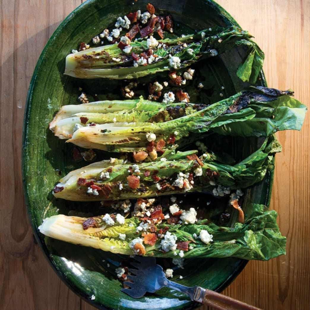 Grilled Romaine with Blue Cheese and Bacon