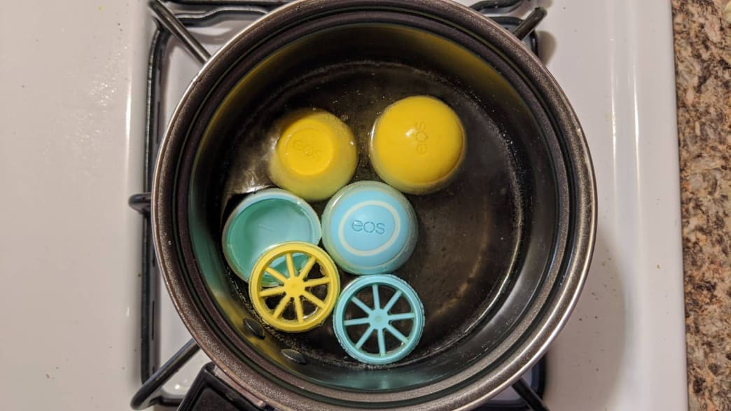 You can pretend your egg containers are actual eggs and you're just hard-boiling them.