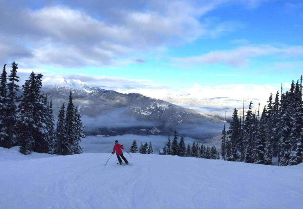 Whistler Blackcomb B.C. intermediate skiing