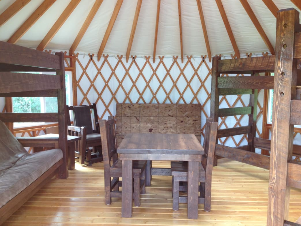 A yurt at the Glendalough State Park.