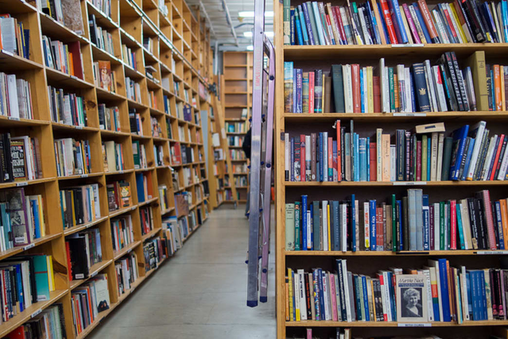 Powell's City of Books hosts roughly one million books in nine color-coded rooms at its store on West Burnside Street.