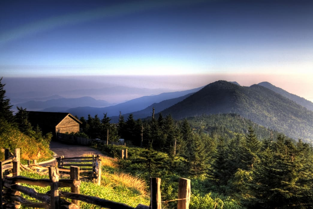 Sunrise at Mt. Mitchell.