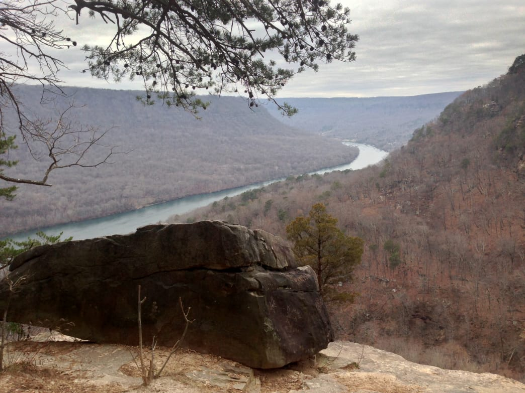 The Julia Falls Overlook is one of the best views on the Cumberland Trail.