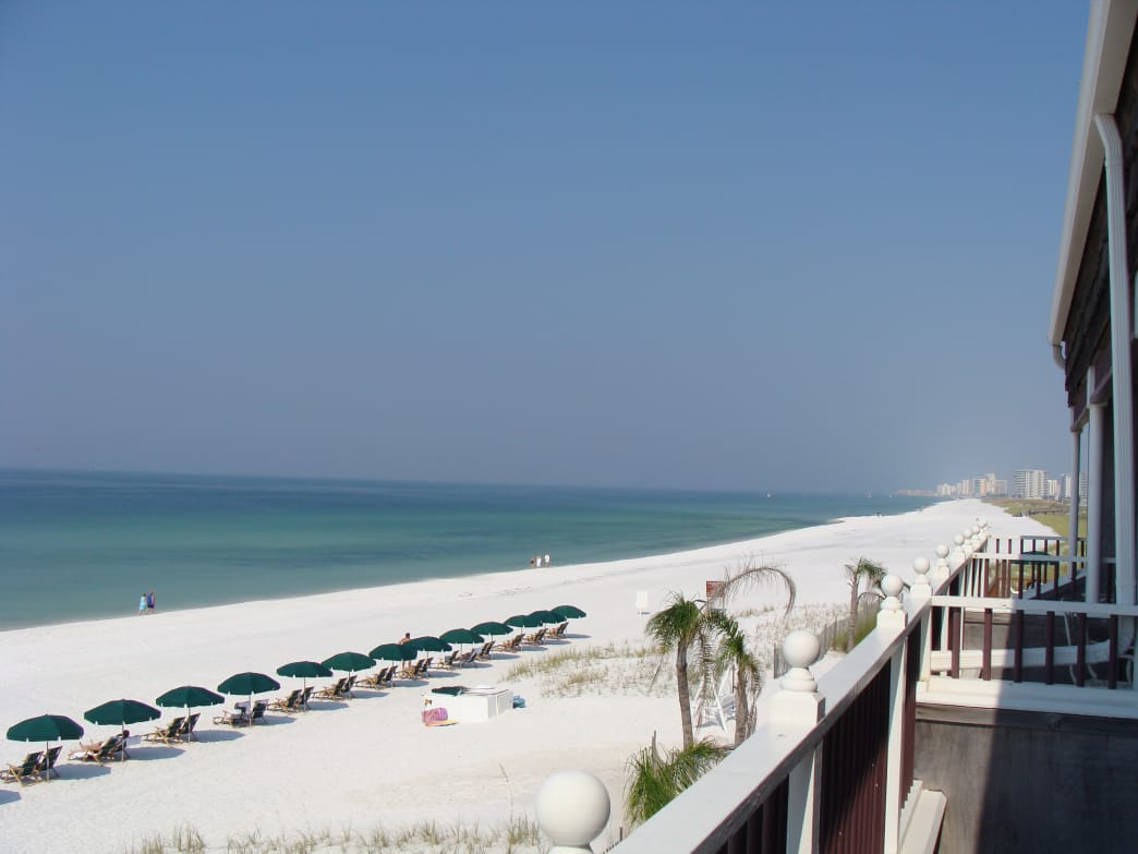 The charming beach town of Destin is known as the quieter spot on the panhandle.