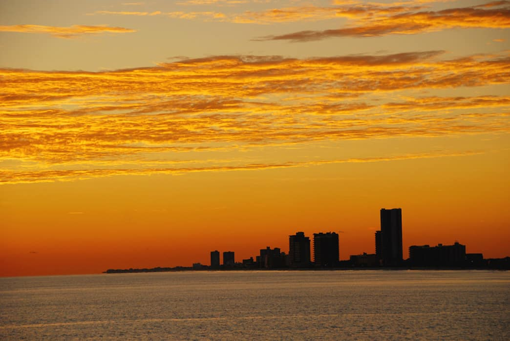 Gulf State Park hosts two miles of sandy beaches for relaxing and watching the sunset.