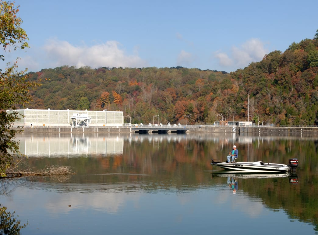 The Clinch River in Knoxville is great for boating or wading.