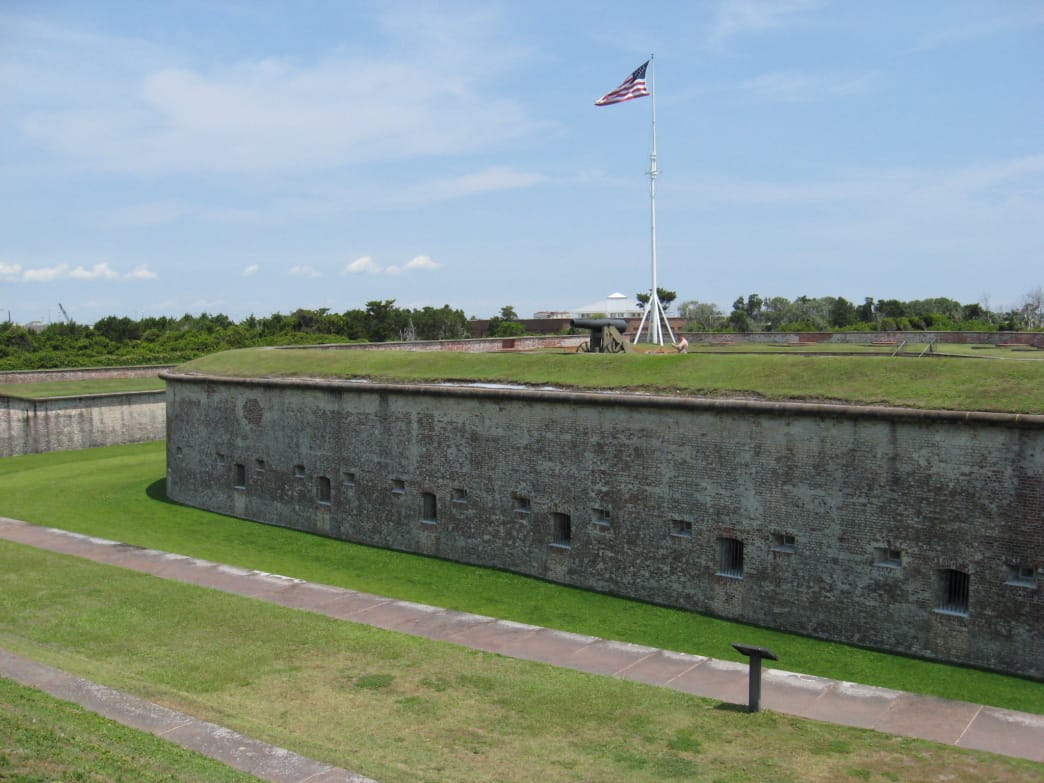 Fort Macon once protected the North Carolina coast from pirates.