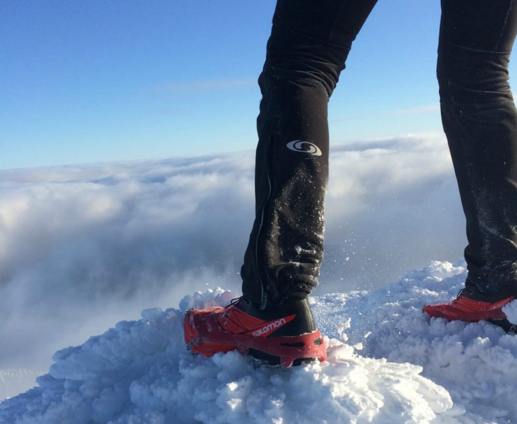 The right footwear and microspikes can make all the difference during a slippery run.
