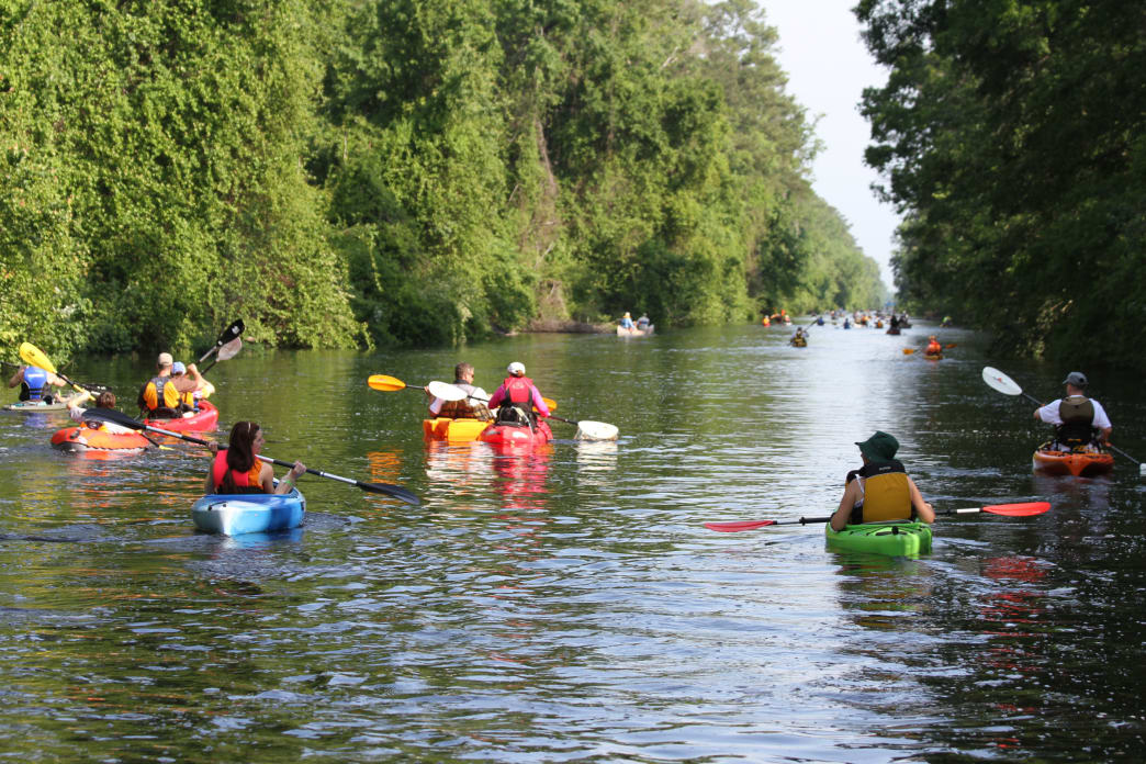 The Intracoastal Waterway offers a wide variety of paddling options in North Carolina.