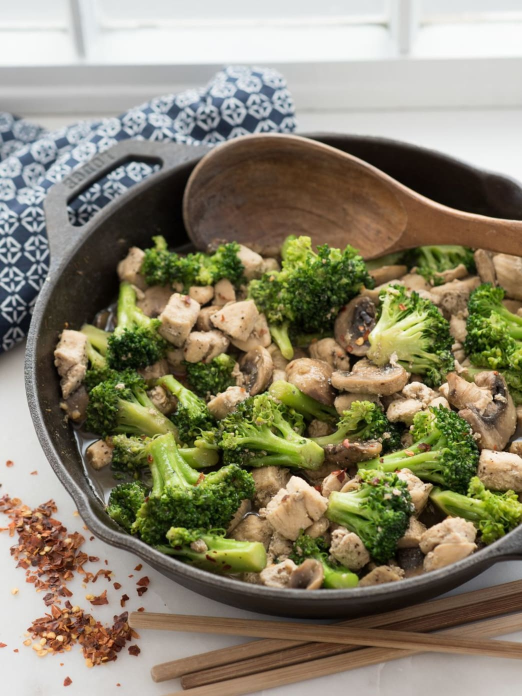 Chicken, Broccoli, Mushroom Stir-Fry