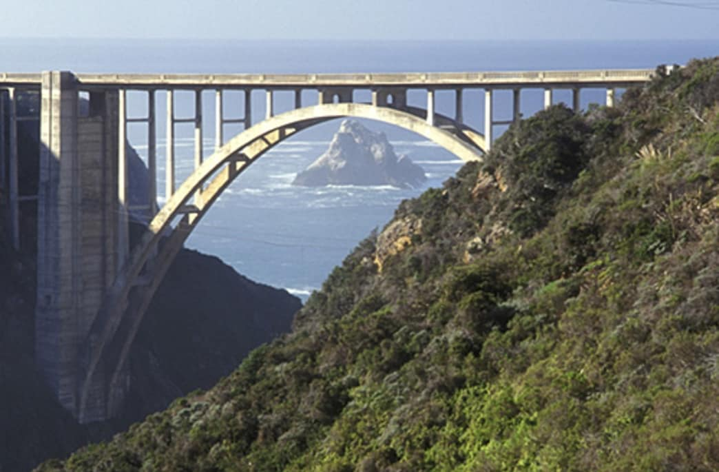 Run to the Bixby Bridge in Big Sur.