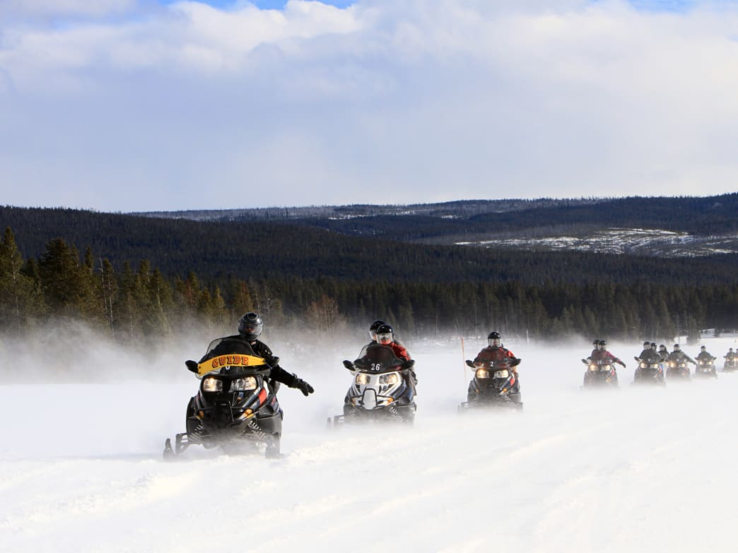 West Yellowstone, Montana, has become a hub for some of the best snowmobiling in the country. Yellowstone National Park's daily guided snowmobile tours are just one of the many options for those looking to enjoy incredibly scenic winter views.