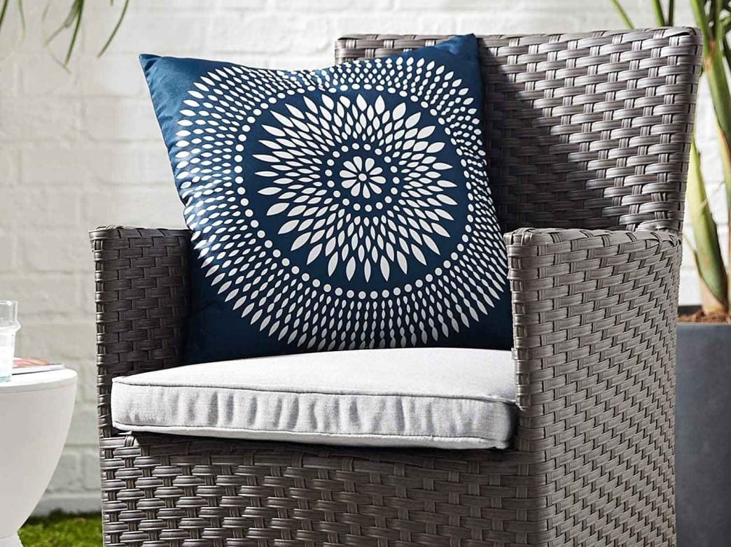 Fade-resistant fabric means the bold patterns on these pillows will stay vibrant.