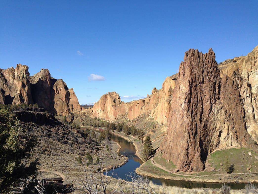 Smith Rock State Park provides several miles of developed trails and numerous bolted climbs.