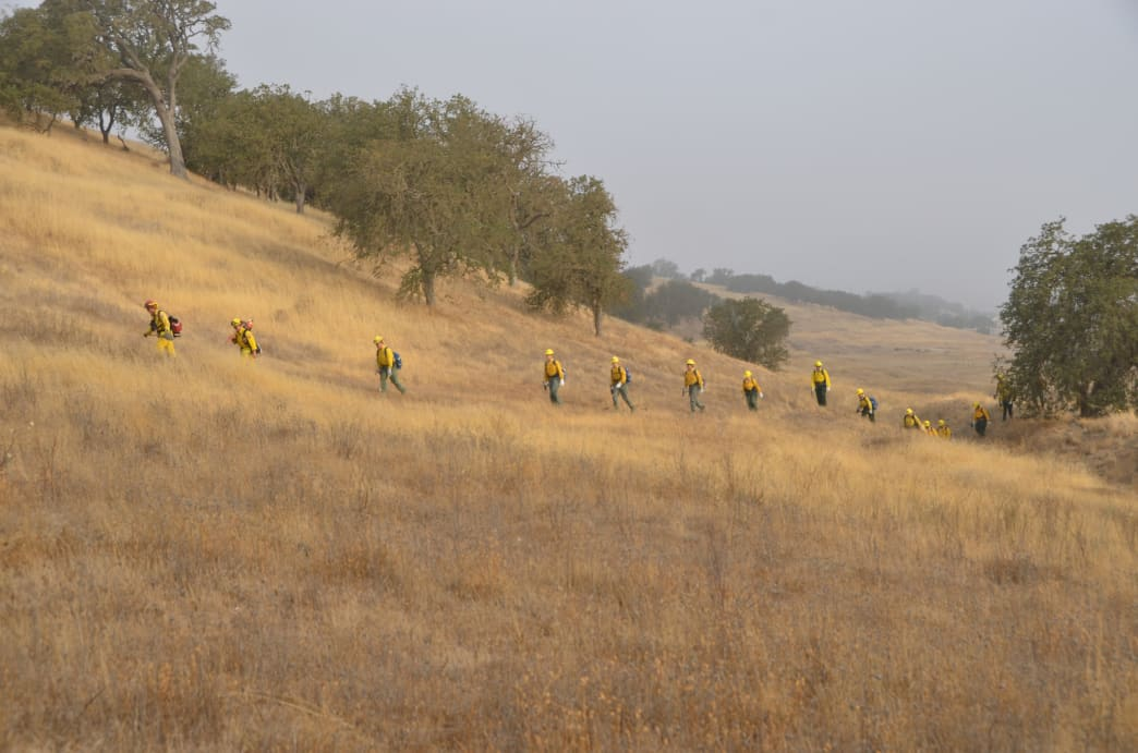 Nearly 400 California Army National Guard Soldiers from the 578th Brigade Engineer Battalion were called up to support the fire.