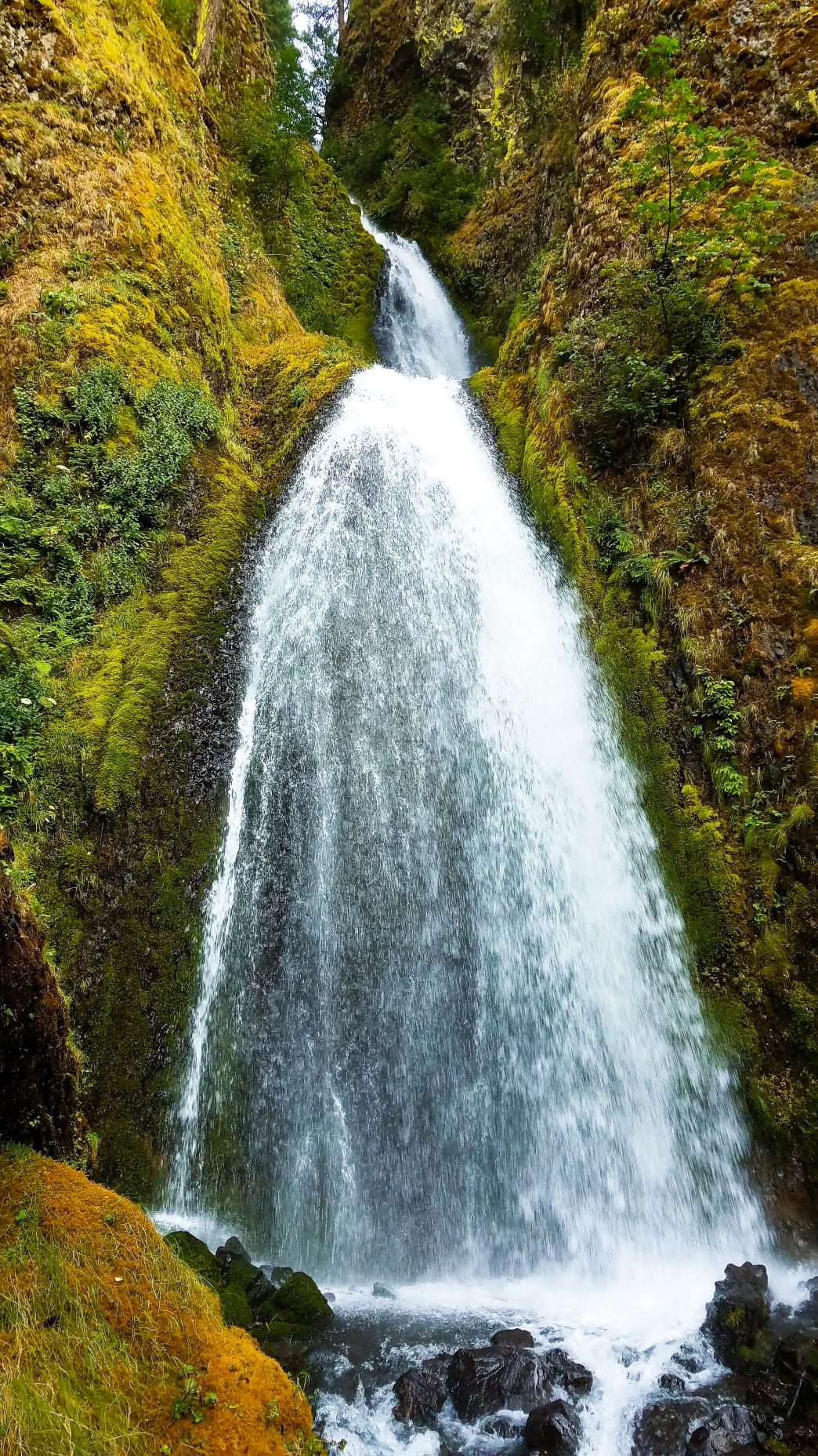 The largest drop of Wahkeena Falls is straight out of a fairy tale. The 242-foot series of falls is a great alternative to the crowds of Multnomah Falls.       Dylan Jones