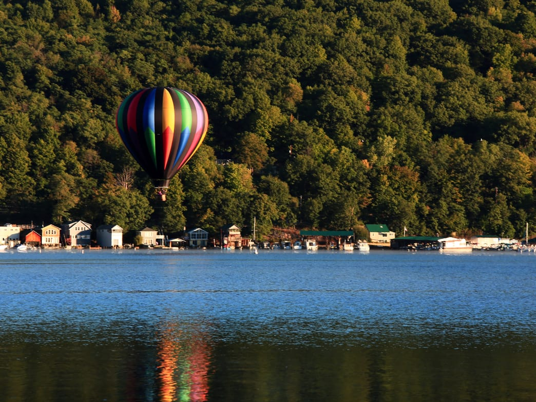 Hot air balloon rides are a popular activity in the Southern Finger Lakes region.