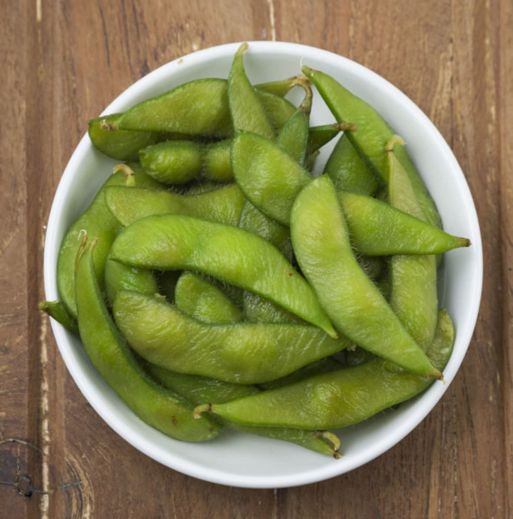 Better Nutrition .bowl of edamame