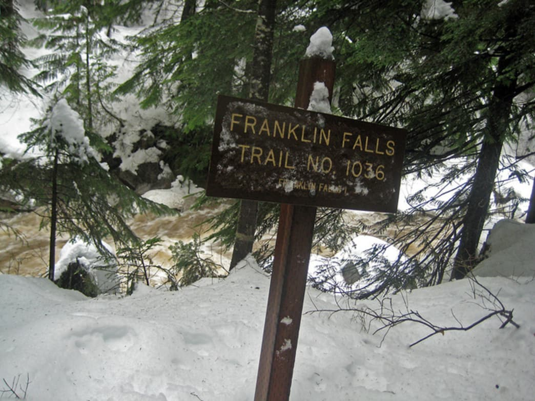 Franklin Falls is spectacular in the winter.
