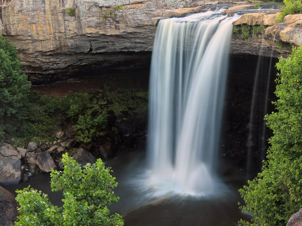 Noccalula Falls is one of the most impressive waterfalls in the state.