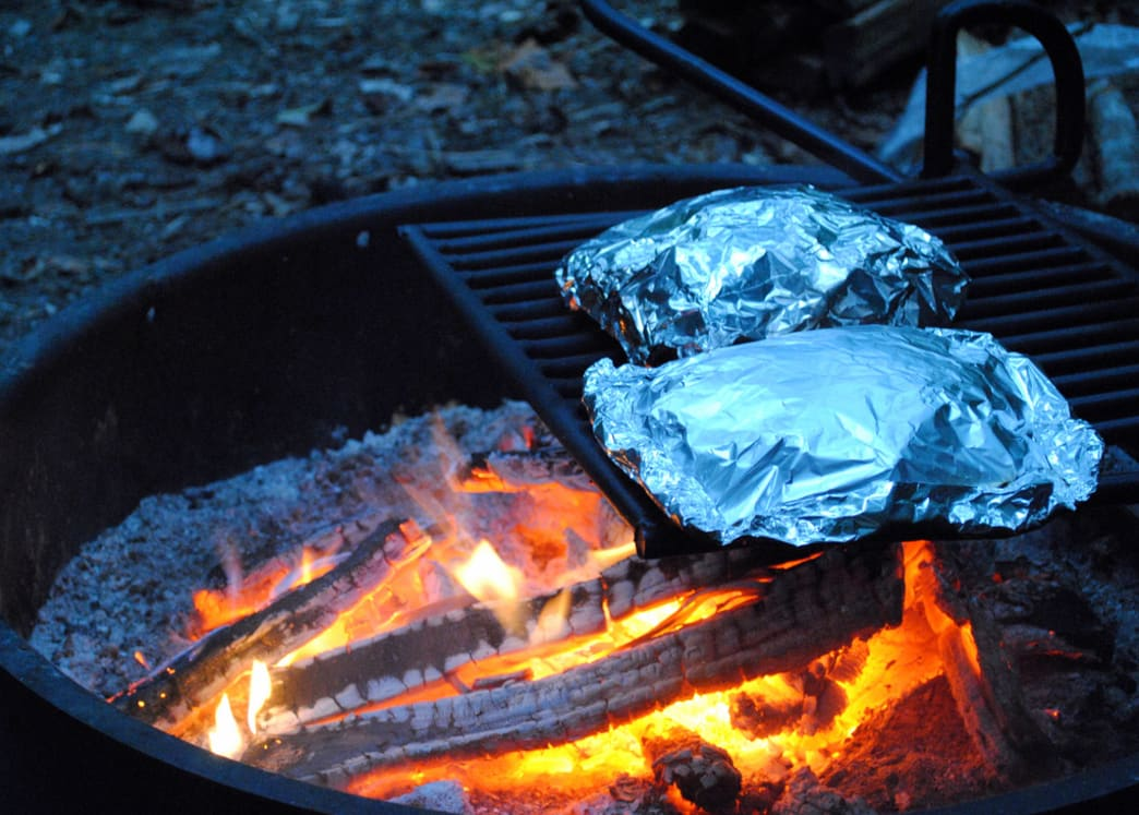 campfire holiday feast using hobo packs
