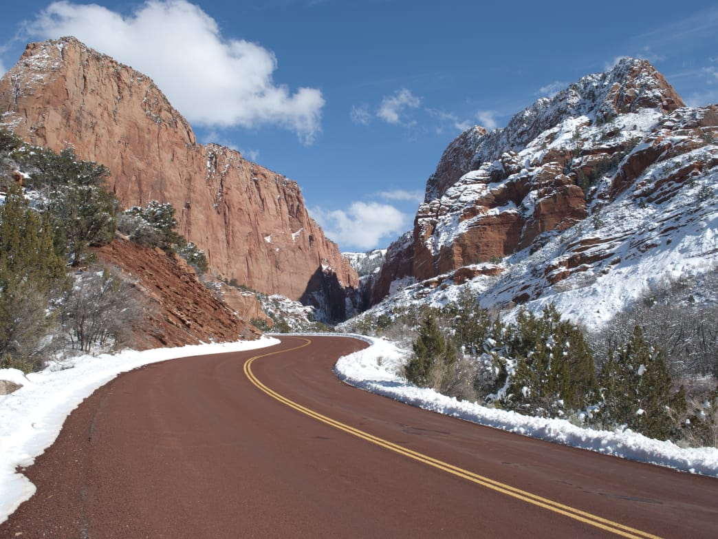 Zion National Park's off-season runs from December through February.