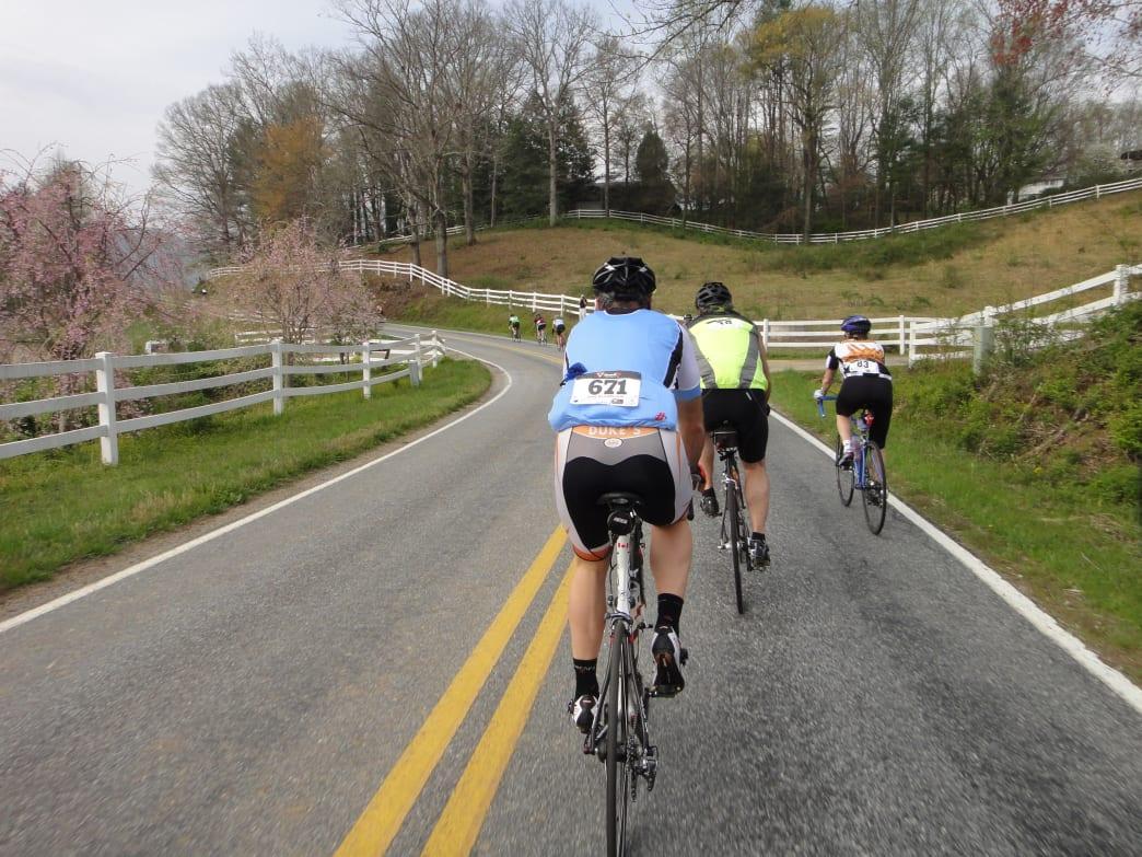 Cyclists can choose from three races—or do them all—in the Triple Crown of Carolina.
