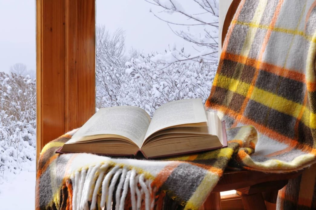 There's nothing like a snow storm or rain to make you want to stay inside and cuddle with a blanket and your favorite book.