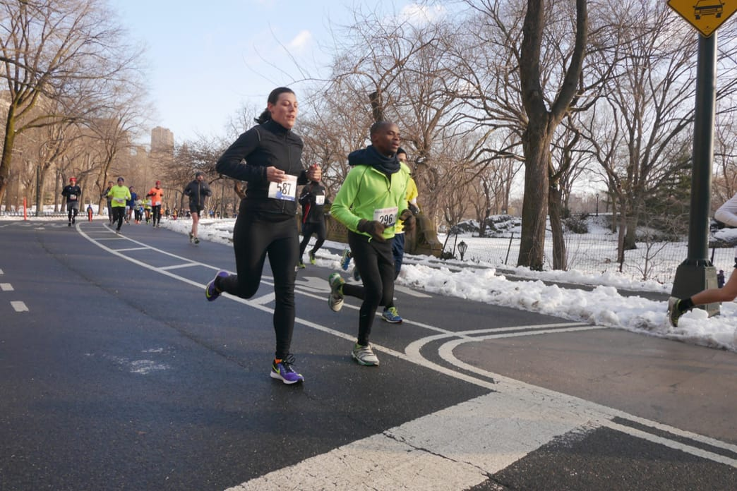 Winter running in Central Park