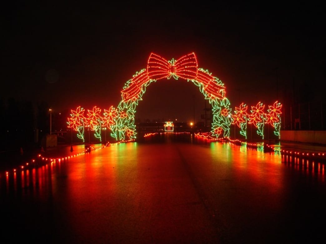 The annual Winter Wonderland of Lights Run Race lets participants run through what organizers call the largest lights display west of the Mississippi River.