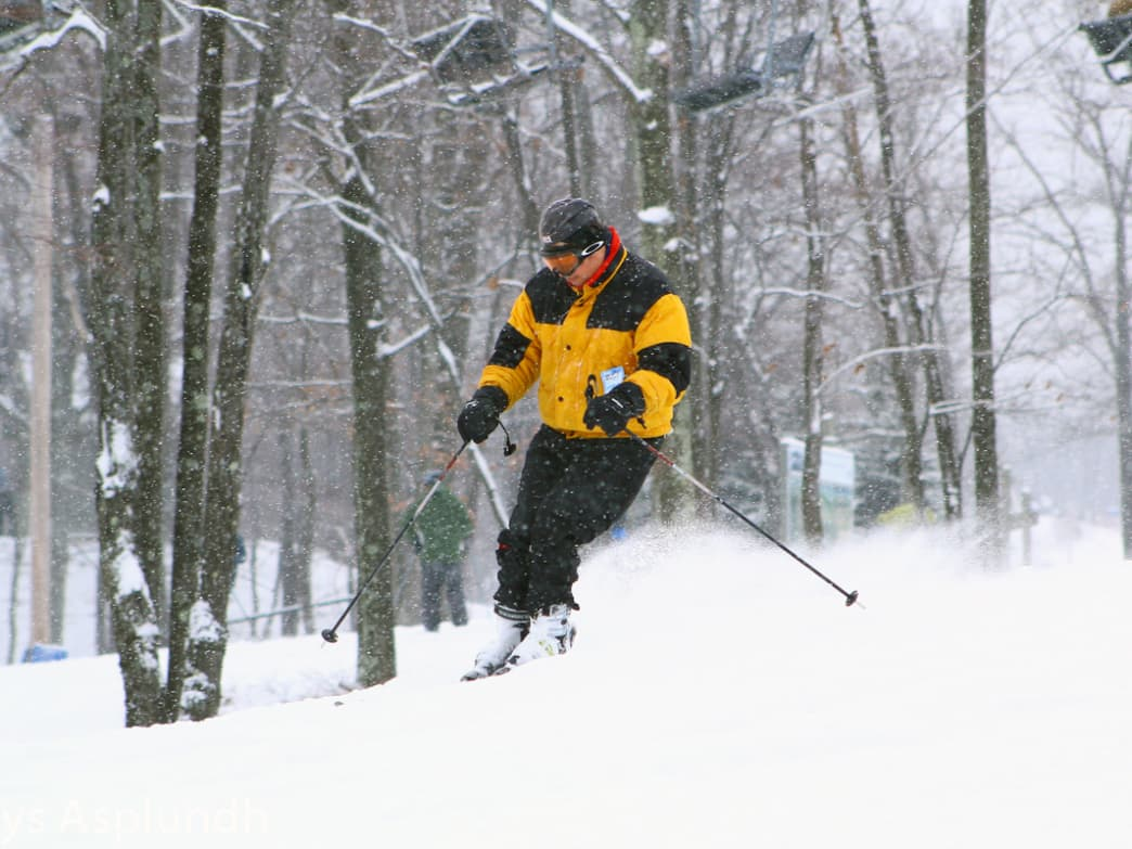 Visitors have enjoyed skiing in the Poconos since the 1940s.