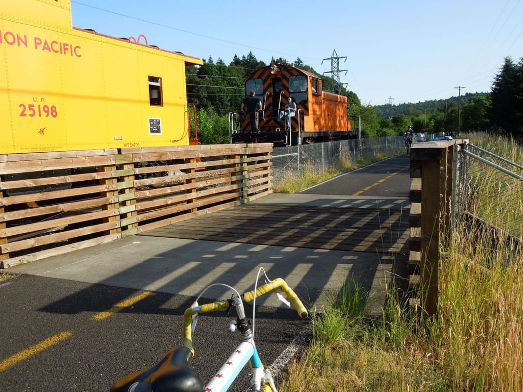 The Springwater Corridor trail is one of the most popular bike paths in Portland.