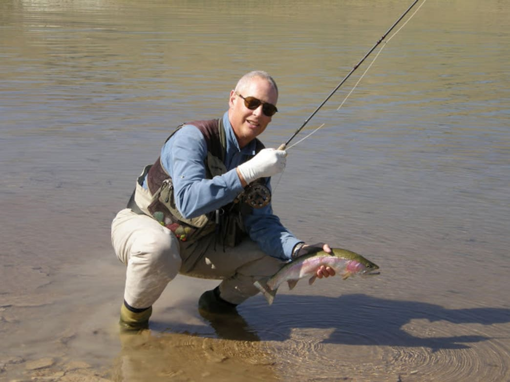 Dave Crowther landing a nice one.