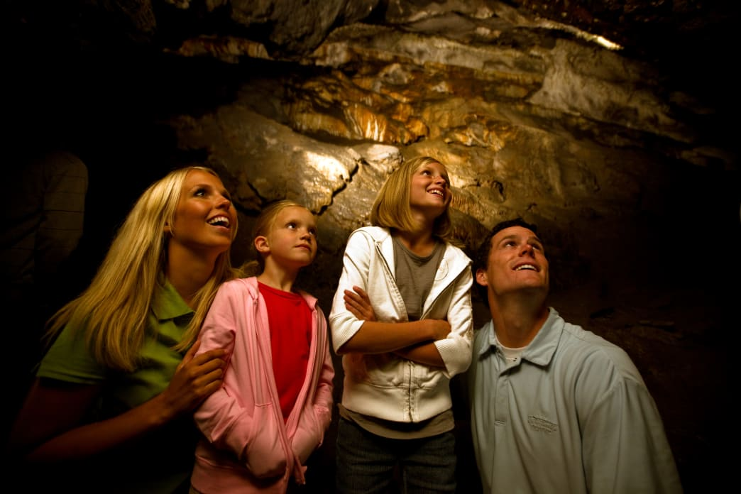 You'll find three different caverns to explore at the Timpanogos Cave National Monument.