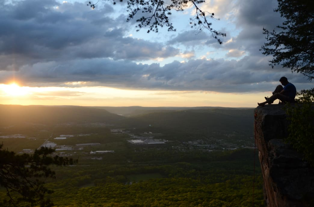 Sunset Rock offers one of the most iconic views of Chattanooga. Jake Wheeler