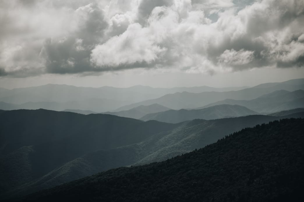 Get 360-degree views of the Smoky Mountains from the top of Clingmans Dome. Lauren Brooks
