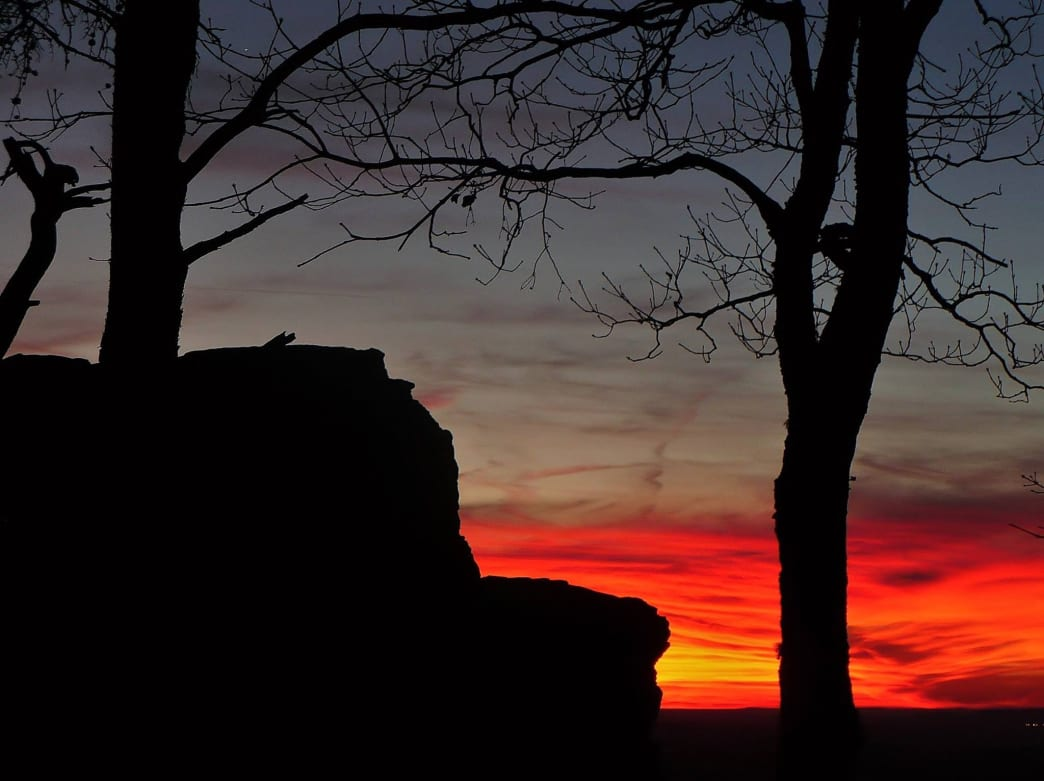 To really wow your date, opt for a sunset hike at a place like Cheaha State Park.